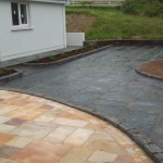 Frost patio slabs